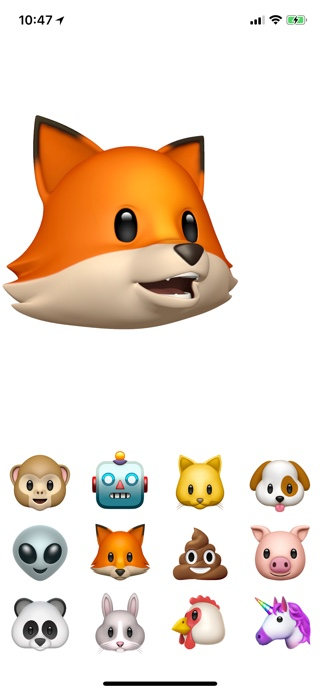 Animoji screenshot