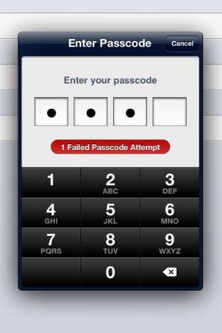 BZPasscodeViewController screenshot
