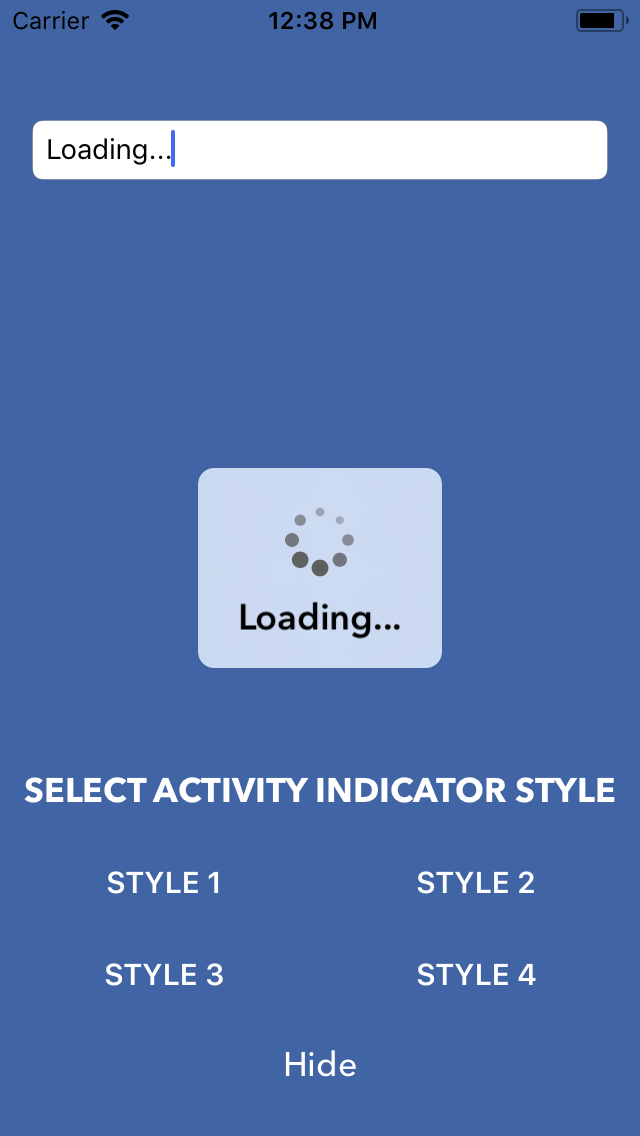 SKActivityIndicatorView screenshot