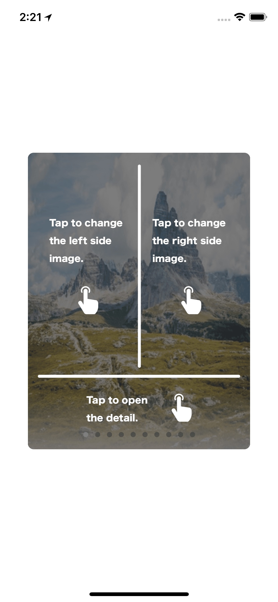TapCardView screenshot