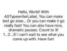 AGTypewriterLabel screenshot