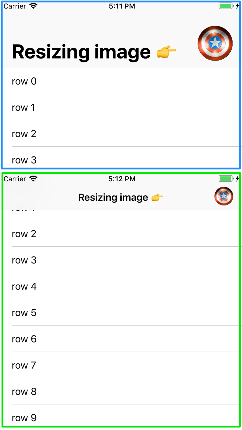 Resizing Image in Navigation Bar screenshot