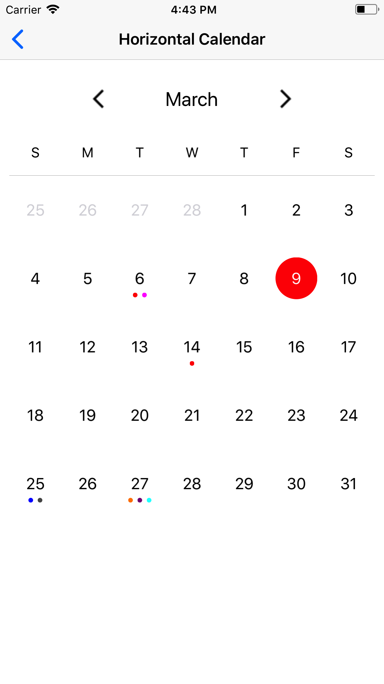 VACalendar screenshot