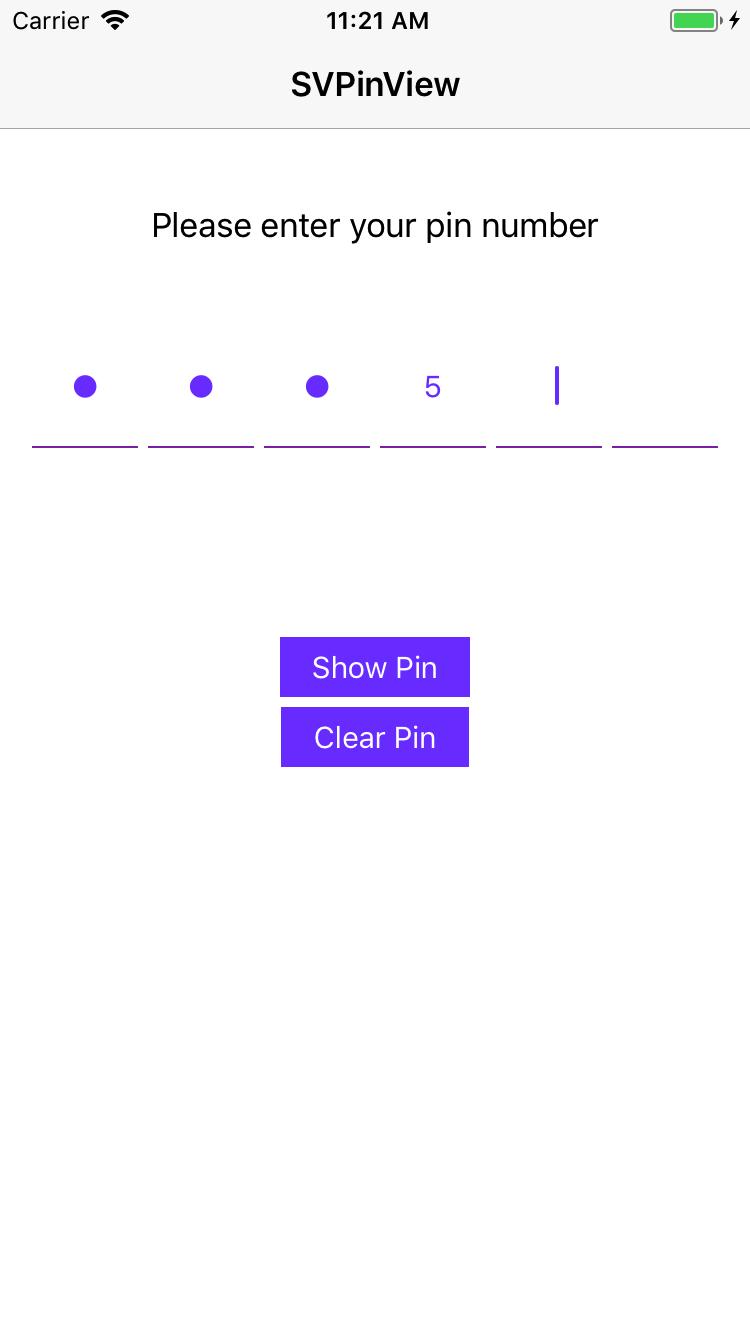 SVPinView screenshot