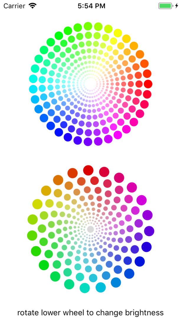 SwiftColorWheel screenshot