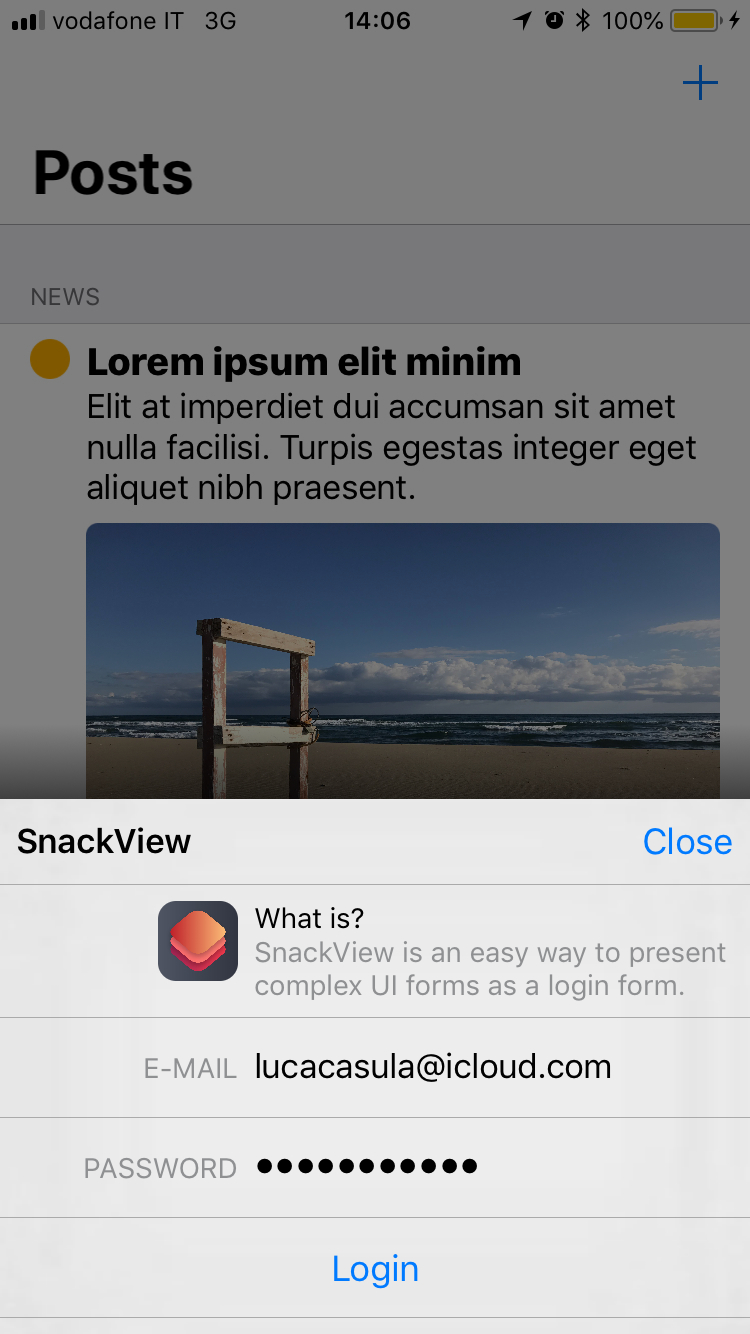 SnackView screenshot