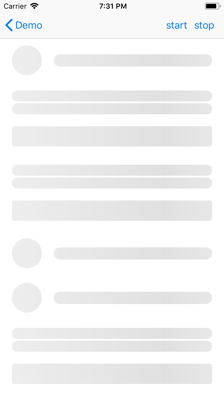 LoadingPlaceholderView screenshot