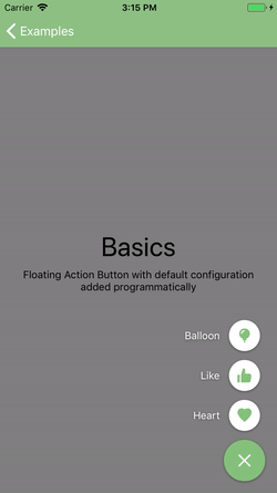 JJFloatingActionButton screenshot