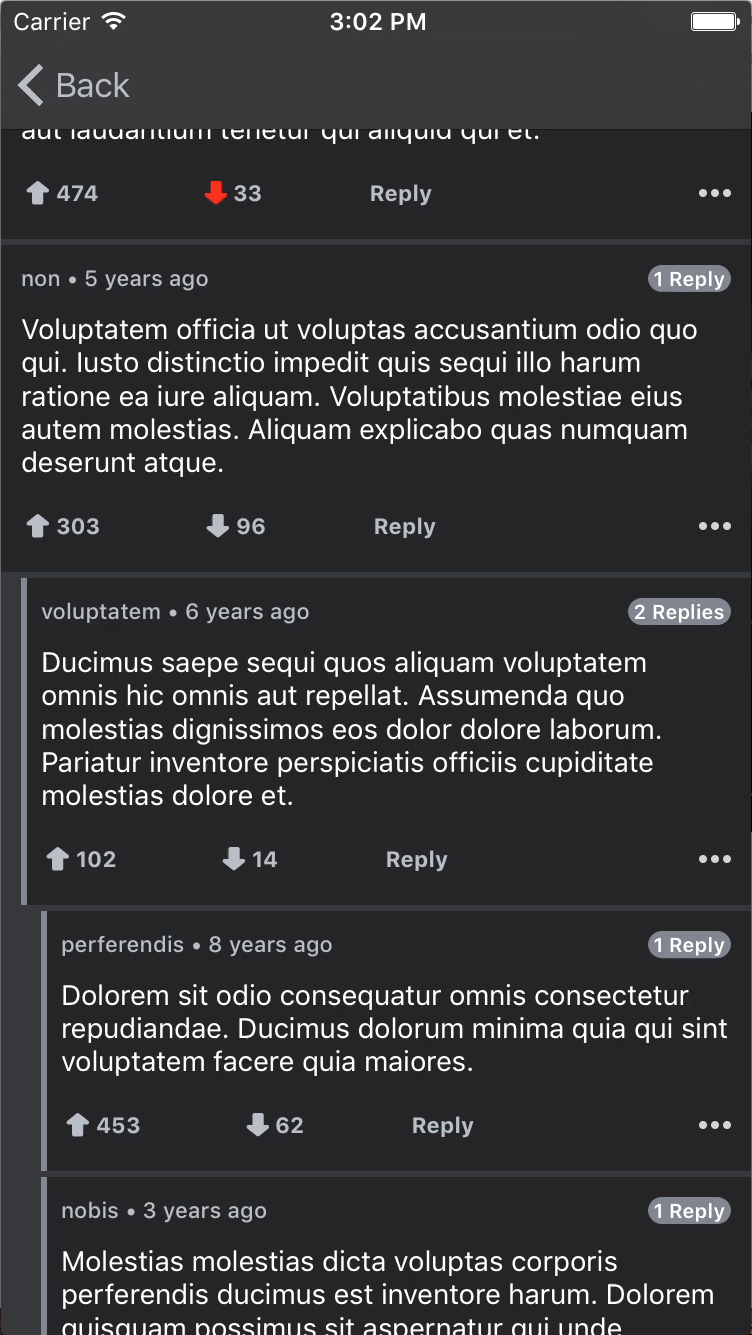 SwiftyComments screenshot
