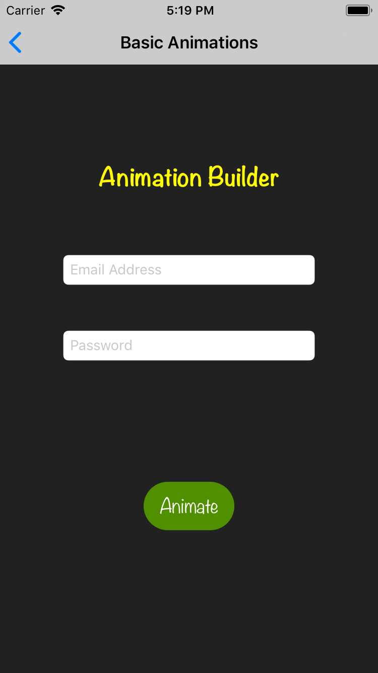 Animation Builder screenshot