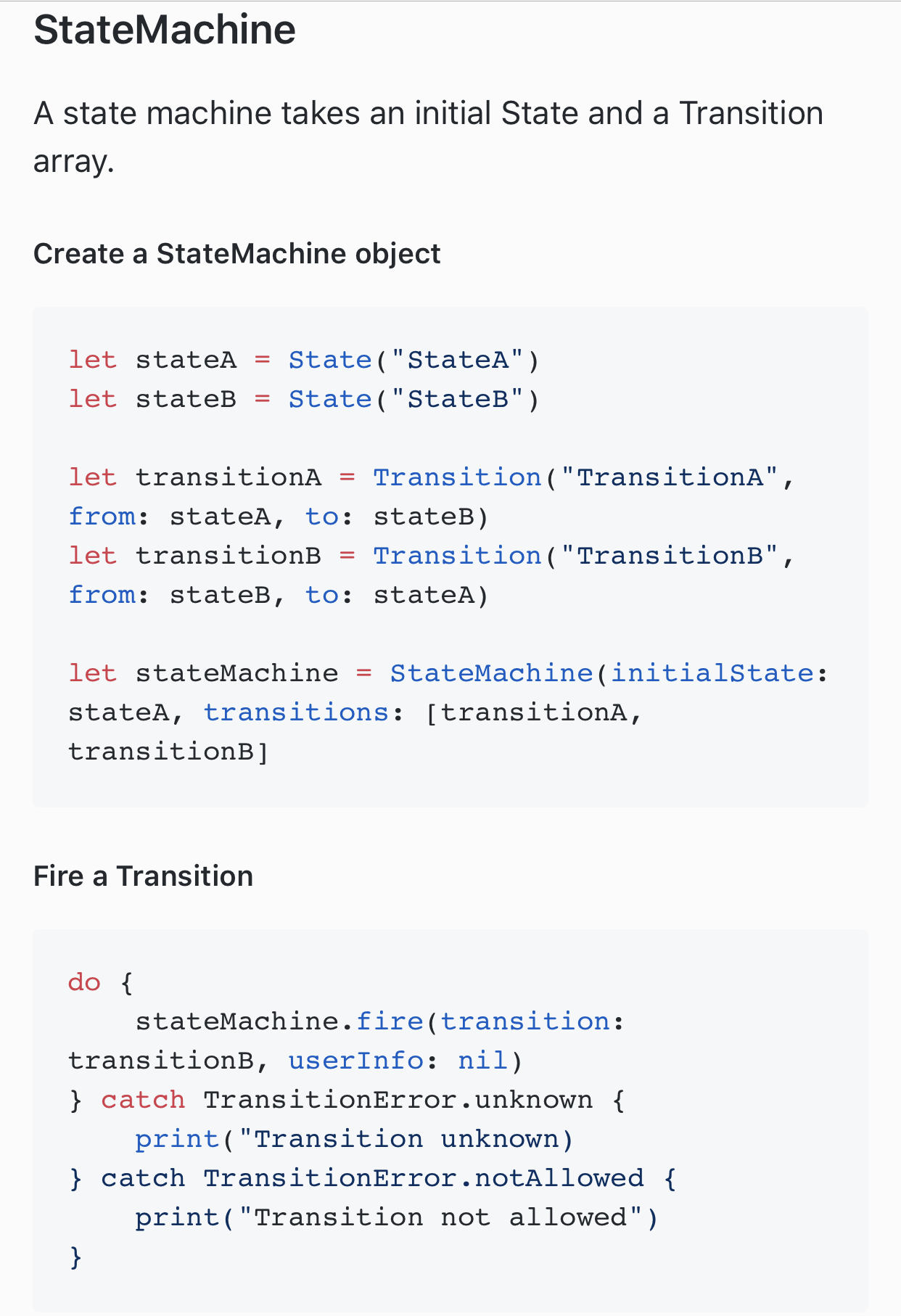 StateMachine screenshot
