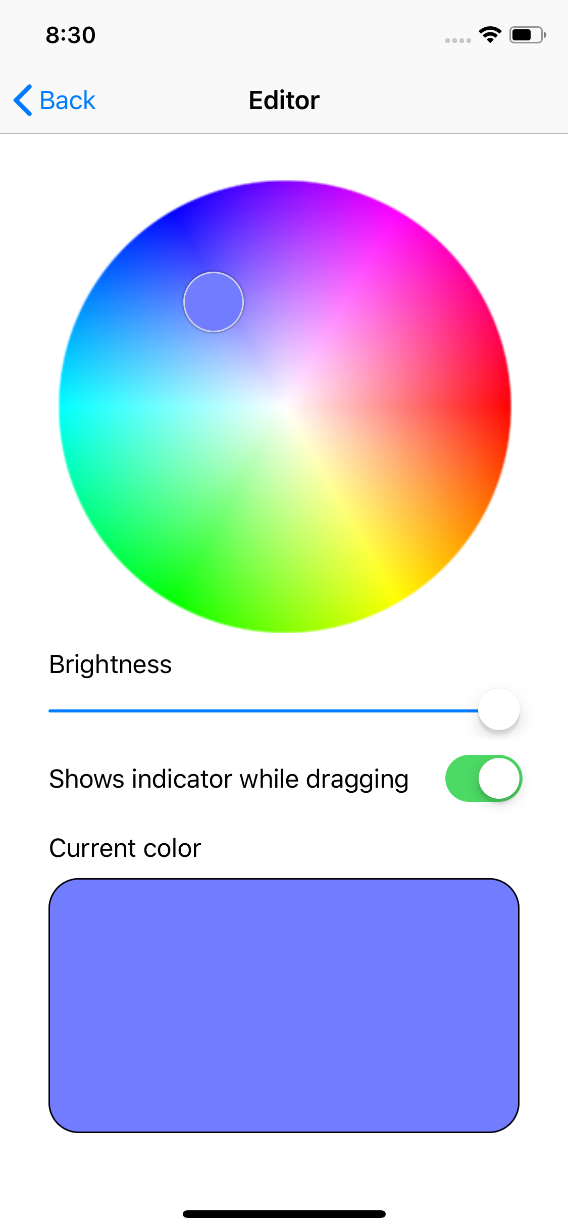 ColorPicker screenshot