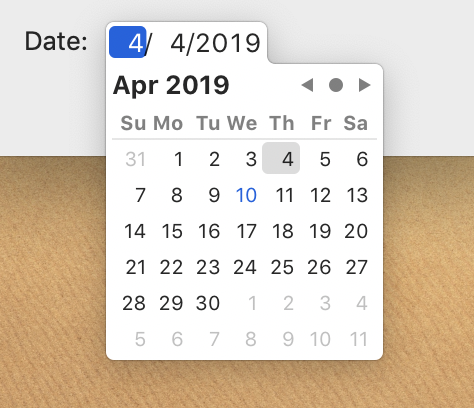 ExpandingDatePicker screenshot