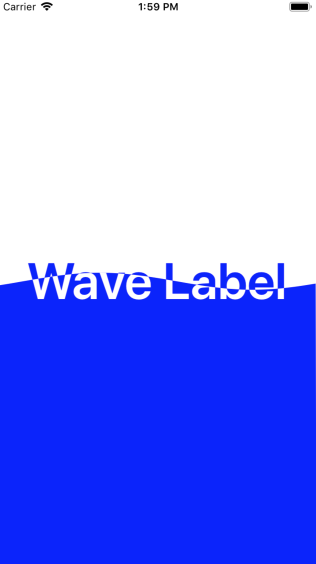 WaveLabelDemo screenshot
