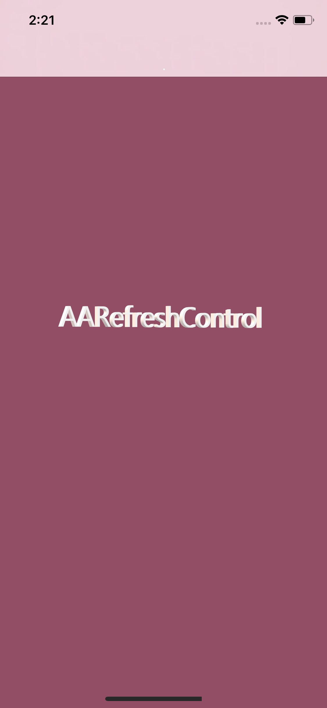 AARefreshControl screenshot