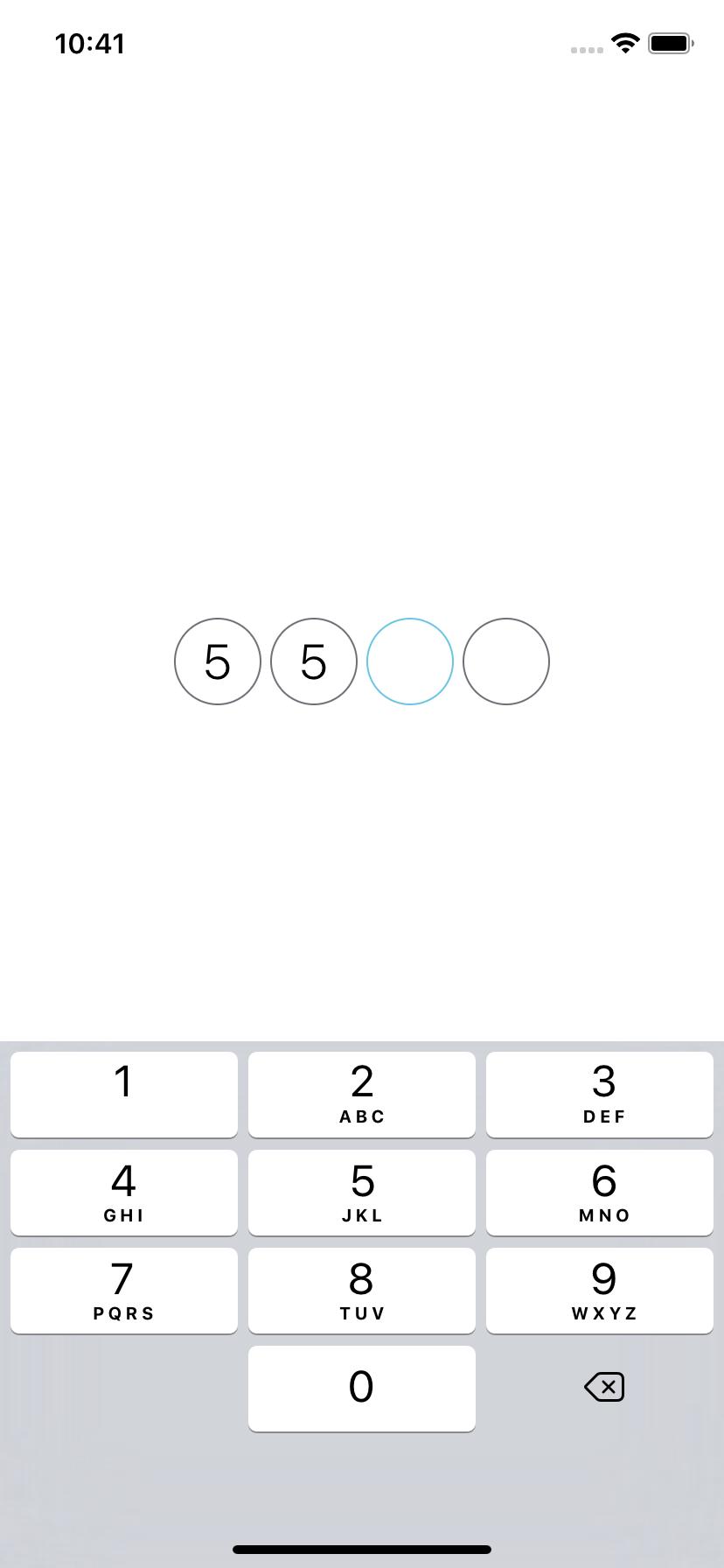 SGDigitTextField screenshot