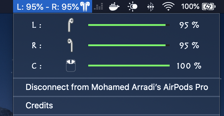 Airpods Battery Monitor Widget  screenshot