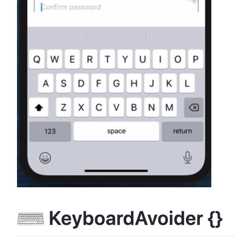 KeyboardAvoider screenshot