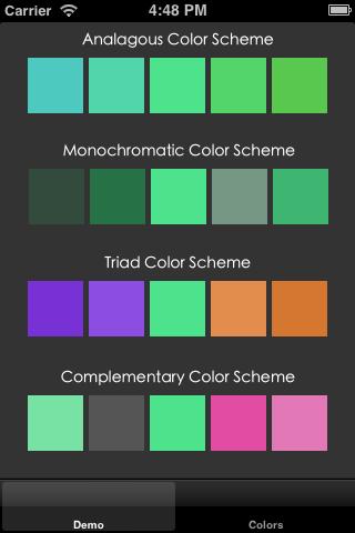 Colours screenshot