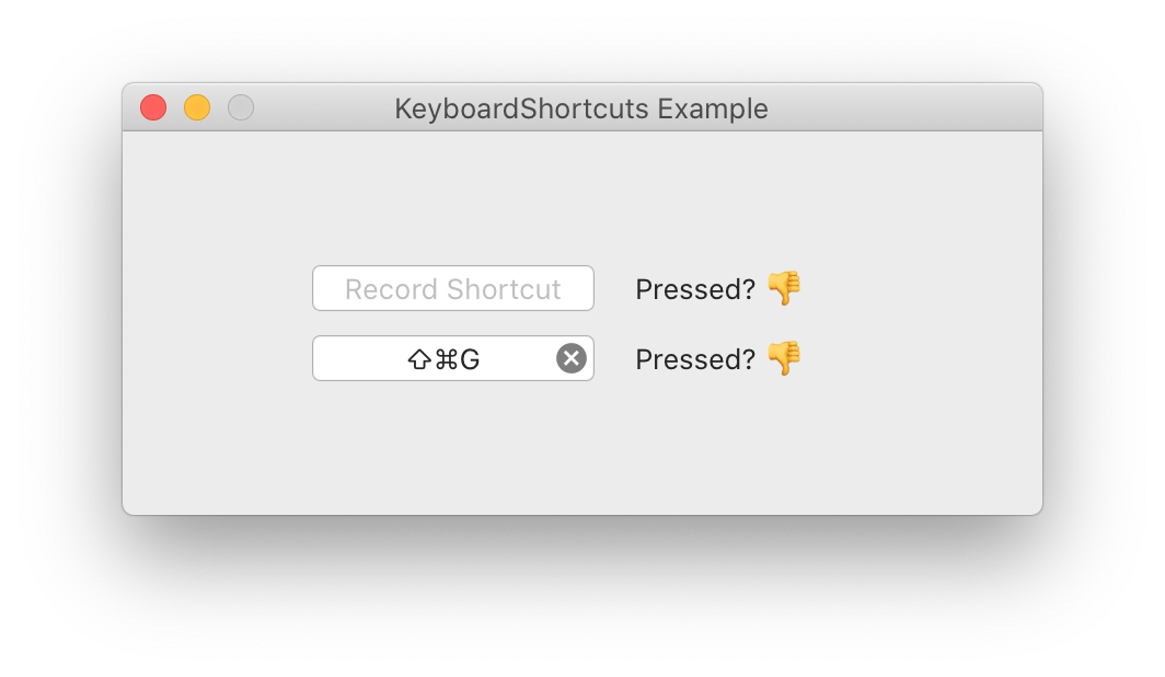 KeyboardShortcuts screenshot