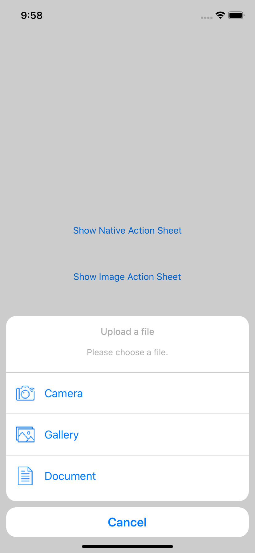 ImageActionSheet screenshot