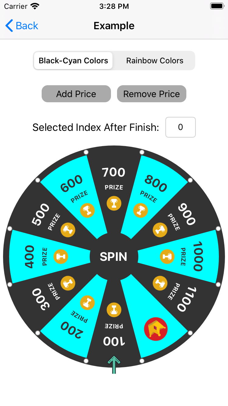 SwiftFortuneWheel screenshot