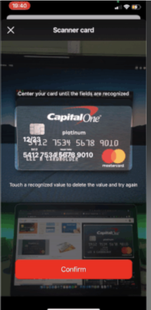 CardScanner screenshot