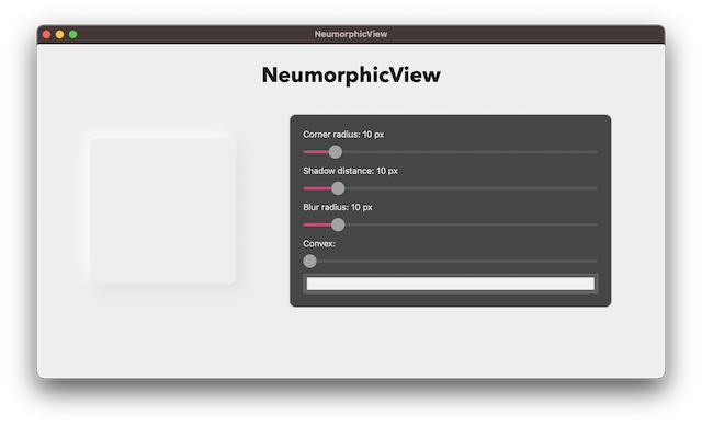 NeumorphicView screenshot