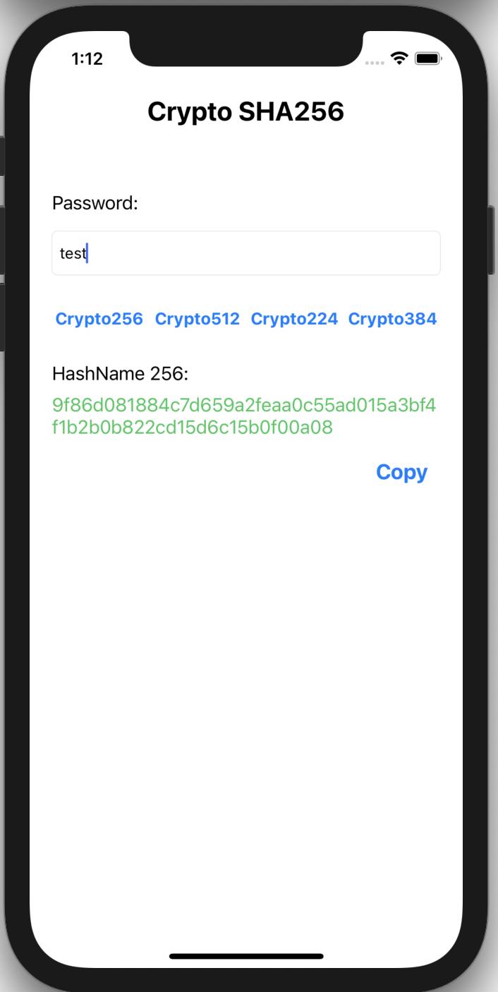 Crypto SHA 256 512 224 384 screenshot