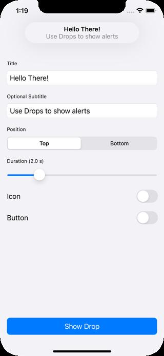 Drops screenshot