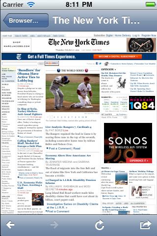 Web Browser View Controller screenshot