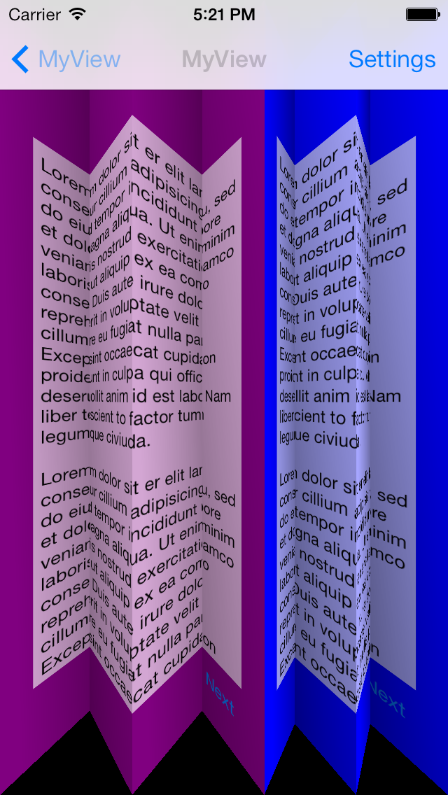 VCTransitionsLibrary screenshot