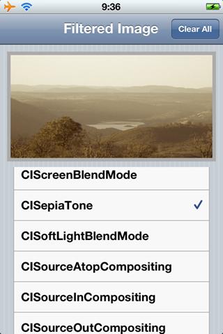 FilterDemo screenshot