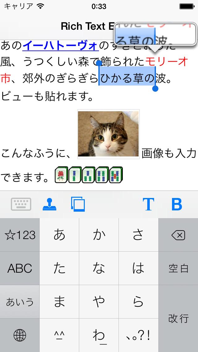 SECoreTextView screenshot