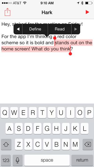 Hark for iOS - Cocoa Controls