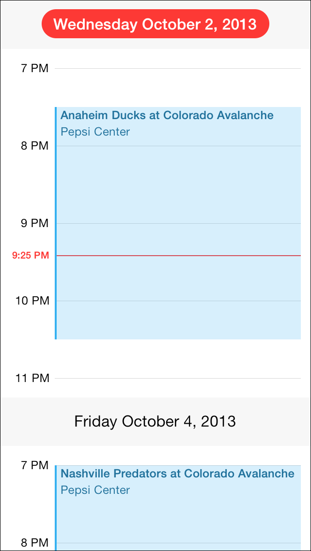 MSCollectionViewCalendarLayout screenshot