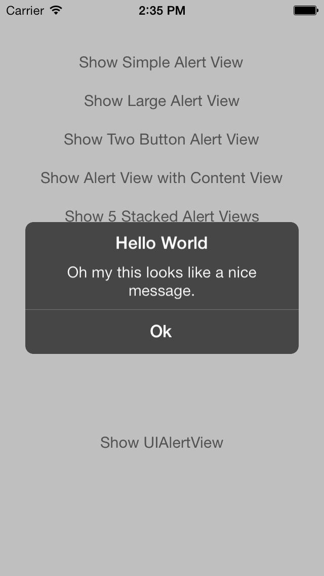 PXAlertView screenshot