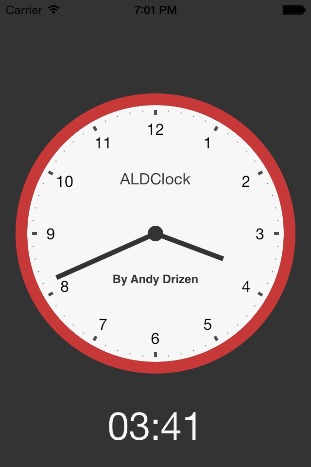 ALDClock screenshot
