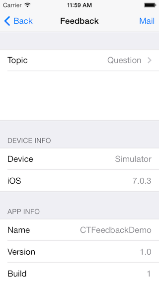 CTFeedback screenshot