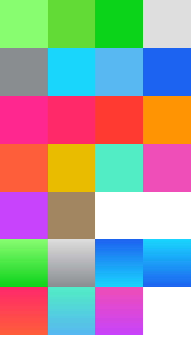KXKiOS7ColorsAndGradients screenshot