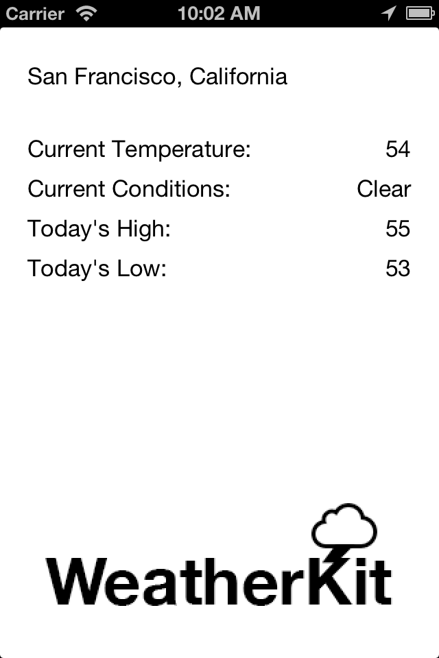 WeatherKit screenshot