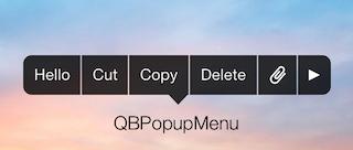 QBPopupMenu screenshot