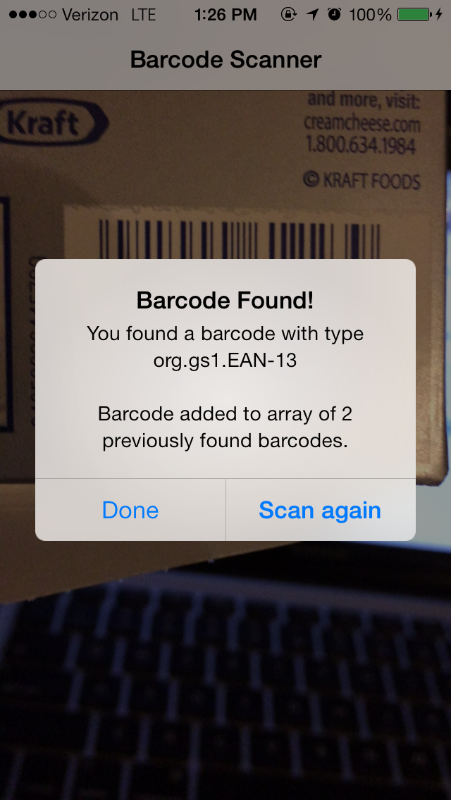 iOS7 Barcode Scanner screenshot