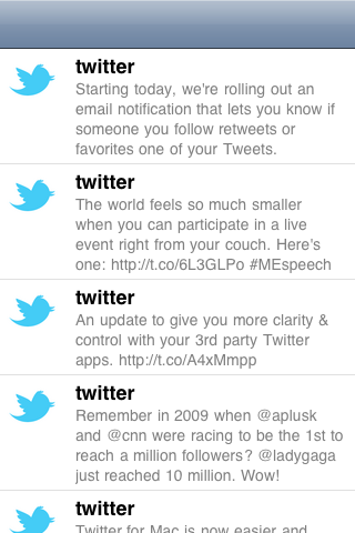 TwitterFeed screenshot