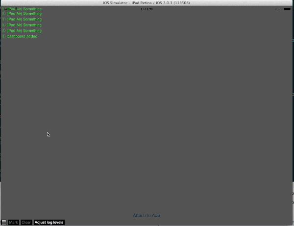 DDMultipeerConsole screenshot