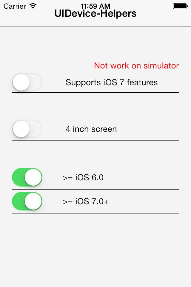 UIDevice-Helpers screenshot