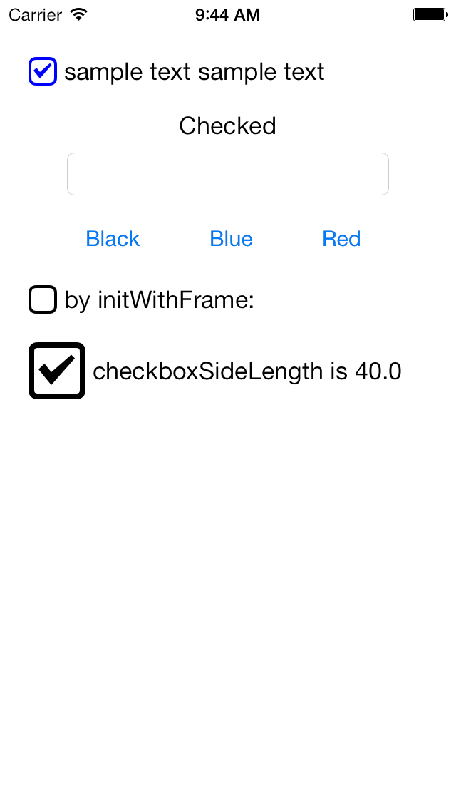 CTCheckbox screenshot