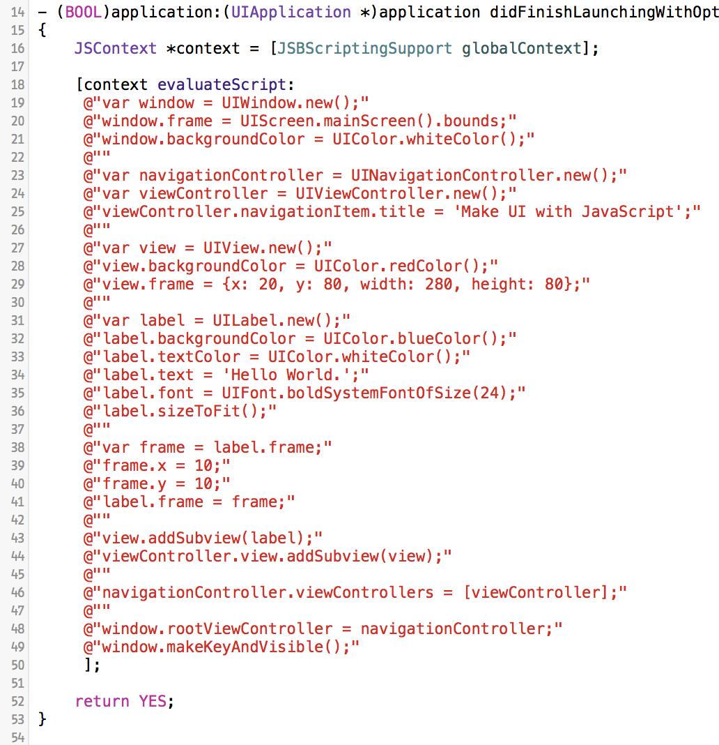 JavaScriptBridge screenshot