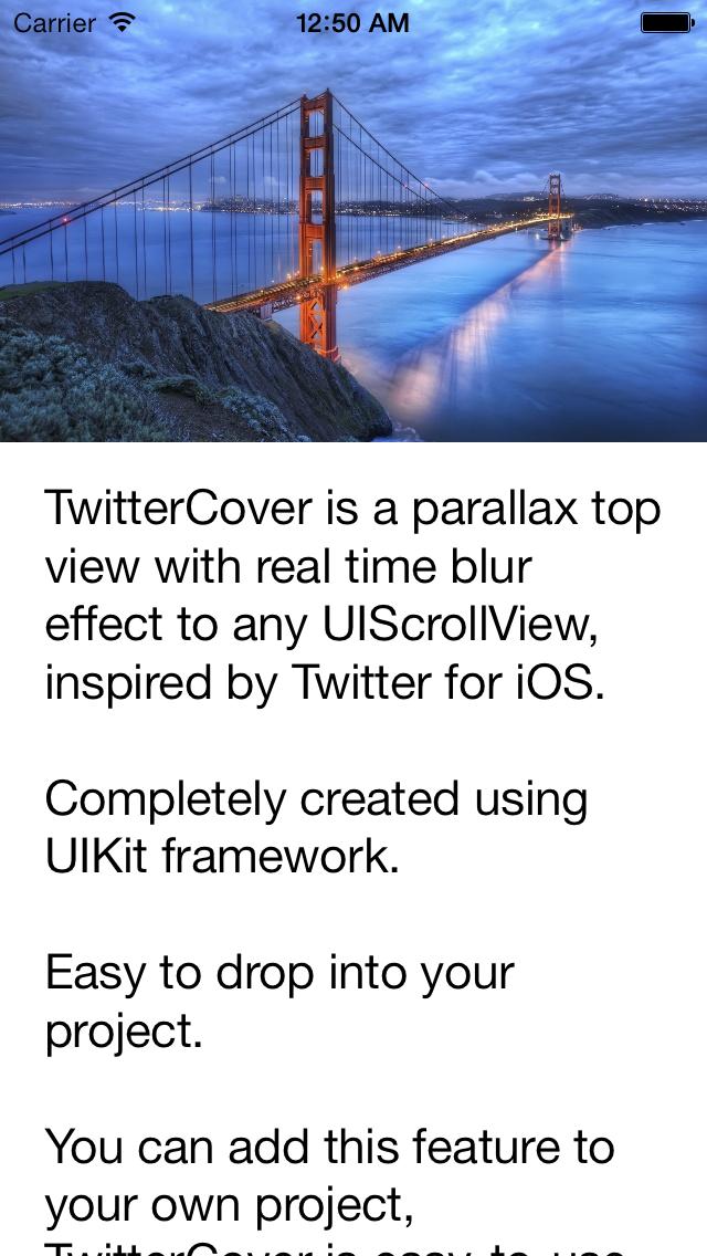 TwitterCover screenshot