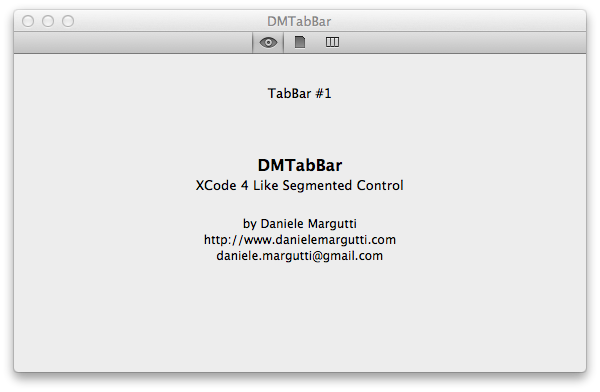 DMTabBar screenshot